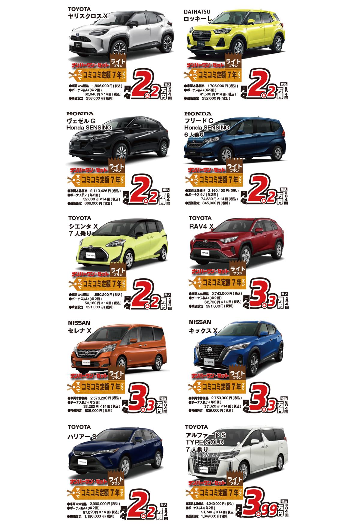 新車市場のカーリース